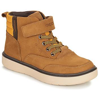 Zapatos Niño Botas de caña baja Geox RIDDOCK WPF Camel