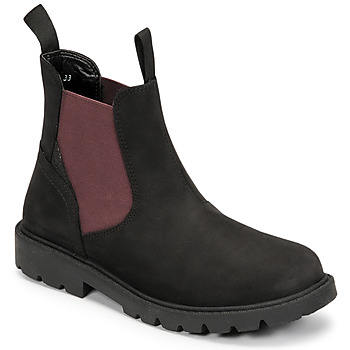 Zapatos Niño Botas de caña baja Geox SHAYLAX Negro / Burdeo