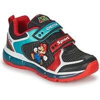 Zapatos Niño Zapatillas bajas Geox ANDROID Negro / Azul / Rojo