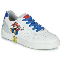 Zapatos Niño Zapatillas bajas Geox DJROCK Blanco / Azul