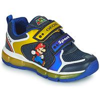 Zapatos Niño Zapatillas bajas Geox ANDROID Azul / Amarillo