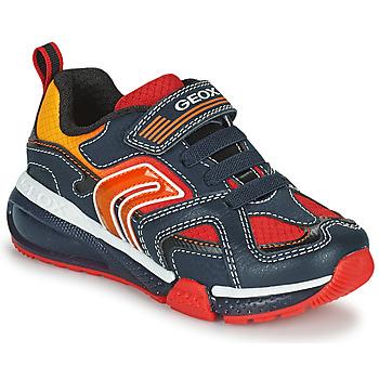 Zapatos Niño Zapatillas bajas Geox BAYONYC Marino / Naranja