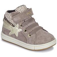 Zapatos Niña Zapatillas altas Geox TROTTOLA Beige