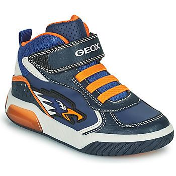 Zapatos Niño Zapatillas altas Geox INEK Marino / Naranja
