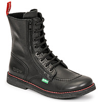 Zapatos Mujer Botas urbanas Kickers MEETICKZIP Negro / Mat