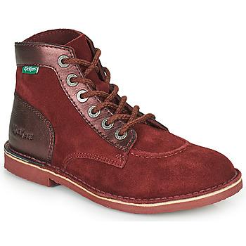 Zapatos Mujer Botas de caña baja Kickers ORILEGEND Burdeo