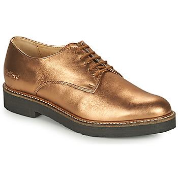 Zapatos Mujer Derbie Kickers OXFORK Bronce