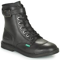 Zapatos Mujer Botas de caña baja Kickers KICK TREND Negro