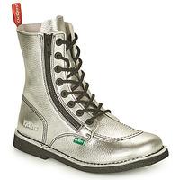 Zapatos Mujer Botas de caña baja Kickers MEETICKZIP Plateado