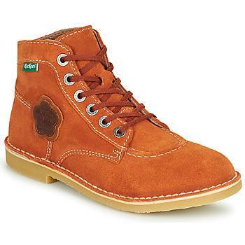 Zapatos Mujer Botas de caña baja Kickers ORILEGEND Rojo
