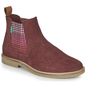 Zapatos Mujer Botas de caña baja Kickers TYGA Burdeo