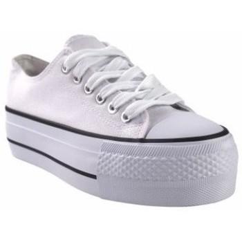 Zapatos Mujer Multideporte Bienve Lona señora  abx026 blanco Blanco