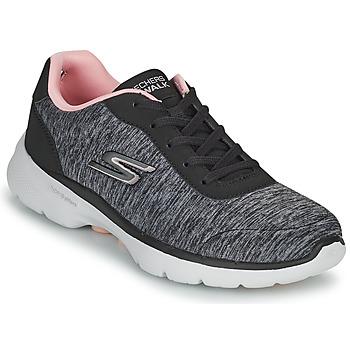 Zapatos Mujer Zapatillas bajas Skechers GO WALK 6 Gris / Rosa