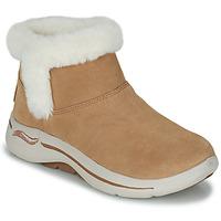 Zapatos Mujer Botas de caña baja Skechers GO WALK ARCH FIT Marrón