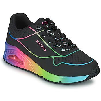Zapatos Mujer Zapatillas bajas Skechers UNO Negro / Multicolor