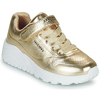 Zapatos Niña Zapatillas bajas Skechers UNO LITE Oro