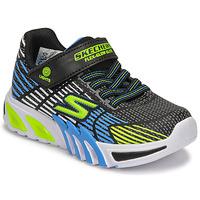 Zapatos Niño Zapatillas bajas Skechers FLEX-GLOW ELITE Negro / Azul / Led