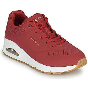 Zapatos Mujer Zapatillas bajas Skechers UNO STAND ON AIR Rojo