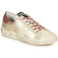 Zapatos Mujer Zapatillas bajas Meline NKC1381 Blanco / Flores