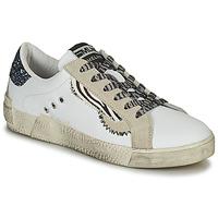 Zapatos Mujer Zapatillas bajas Meline NK139 Blanco / Glitter / Azul