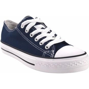 Zapatos Mujer Multideporte Bienve Lona señora  ca01 azul Azul