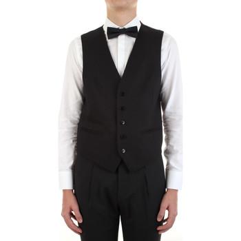 textil Hombre Chaleco de traje Manuel Ritz 3030W9077-213029 Negro