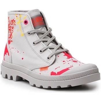 Zapatos Mujer Zapatillas altas Palladium Manufacture Pampa HI Explore Vegan Rojos, Grises