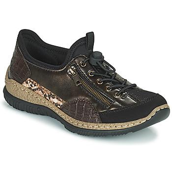 Zapatos Mujer Zapatillas bajas Rieker ALINDA Bronce / Negro