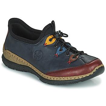Zapatos Mujer Derbie Rieker ENCORRA Azul / Rojo / Amarillo