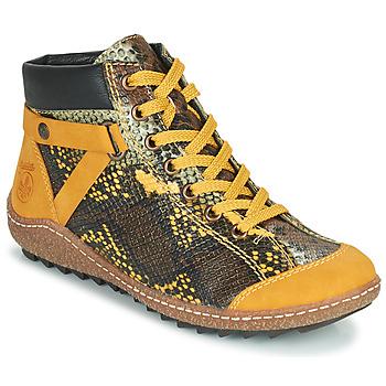 Zapatos Mujer Botas de caña baja Rieker LONGTER Amarillo / Negro