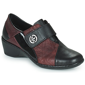 Zapatos Mujer Mocasín Rieker HANTAR Negro / Burdeo