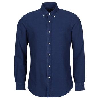 textil Hombre Camisas manga larga Polo Ralph Lauren TRENNYB Piel / Azul