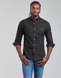 textil Hombre Camisas manga larga Polo Ralph Lauren CAMISETA Negro