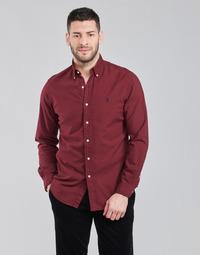 textil Hombre Camisas manga larga Polo Ralph Lauren KAOLMA Burdeo
