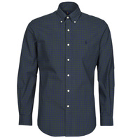 textil Hombre Camisas manga larga Polo Ralph Lauren RENIMA Verde / Azul