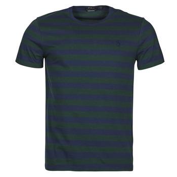 textil Hombre Camisetas manga corta Polo Ralph Lauren POLINE Marino / Verde
