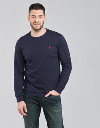 textil Hombre Camisetas manga larga Polo Ralph Lauren DRENNI Marino