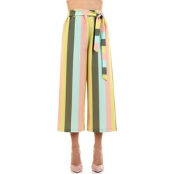 textil Mujer Pantalones fluidos White Wise WW1414 Multicolor