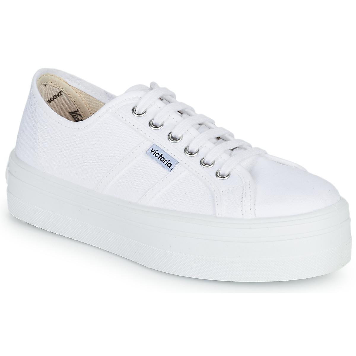 4fcf5737e7e Victoria BLUCHER LONA PLATAFORMA Blanco - Envío gratis con Spartoo.es ! -  Zapatos Deportivas bajas Mujer 40