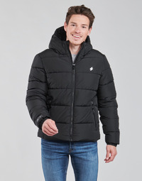textil Hombre Plumas Superdry HOODED SPORTS PUFFER Negro