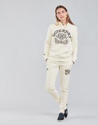 textil Mujer Pantalones de chándal Superdry PRIDE IN CRAFT JOGGER Crudo