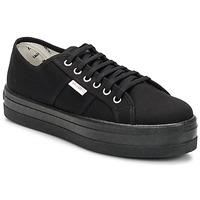 Zapatos Mujer Zapatillas bajas Victoria BLUCHER LONA PLATAFORMA Negro