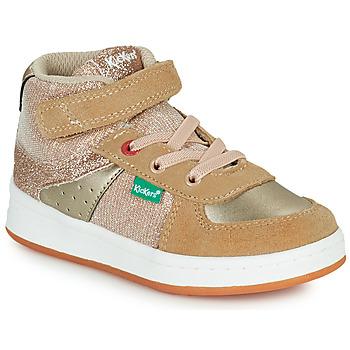 Zapatos Niña Zapatillas altas Kickers BILBON MID Beige