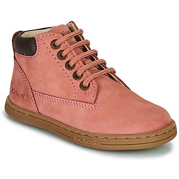 Zapatos Niña Botas de caña baja Kickers TACKLAND Rosa