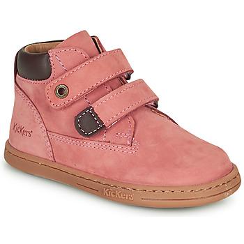 Zapatos Niña Botas de caña baja Kickers TACKEASY Rosa