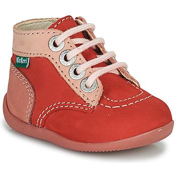 Zapatos Niña Botas de caña baja Kickers BONZIP-2 Rosa