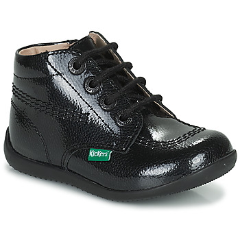 Zapatos Niña Botas de caña baja Kickers BILLISTA ZIP Negro