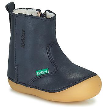 Zapatos Niña Botas de caña baja Kickers SOCOOL CHO Marino
