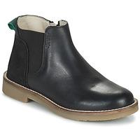 Zapatos Niña Botas de caña baja Kickers NY KICK Negro