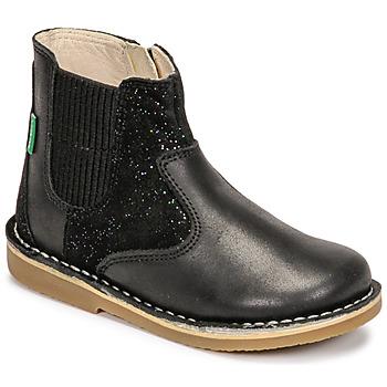 Zapatos Niña Botas de caña baja Kickers MAELIO Negro